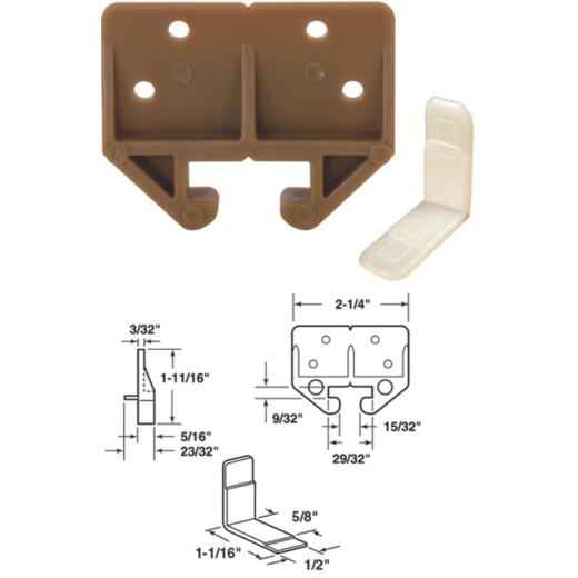 """Prime-Line 7/8"""" x 29/32"""" Polyethylene Track Guide (2 Count)"""