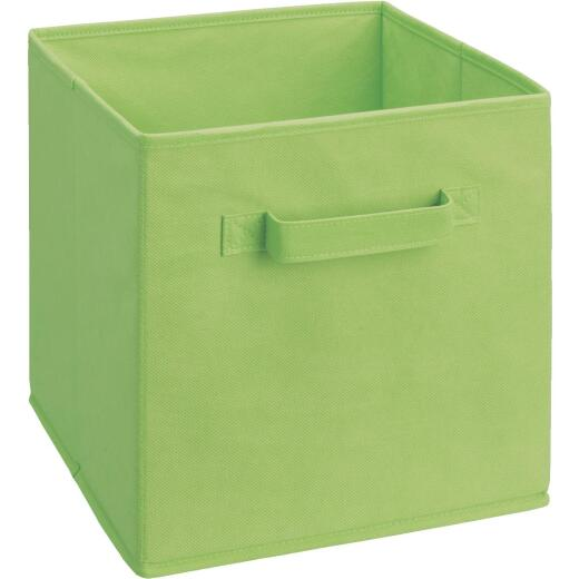ClosetMaid Cubeicals 10.25 In. W. x 11 In. H. Lime Green Fabric Drawer