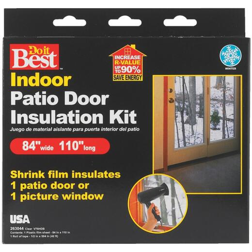 Do it Best 84 In. x 110 In. Indoor Shrink Film Window Kit