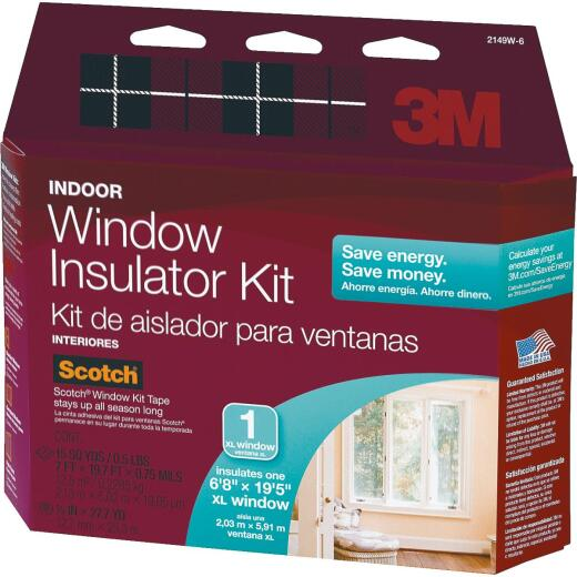 3M Indoor  84 In. x 237 In. Oversized Window Insulation Kit