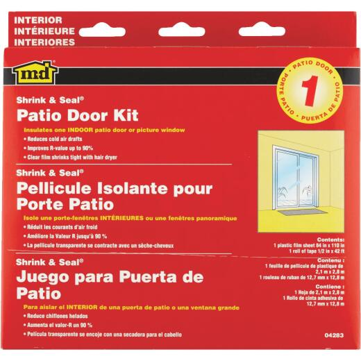 M-D Indoor 84 In. x 110 In. Patio Door or Picture Window Insulation Kit
