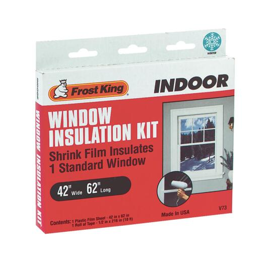 Frost King 42 In. x 62 In. Indoor Shrink Film Window Kit