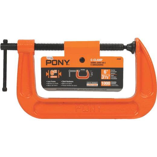 Pony 6 In. Light-Duty C-Clamp