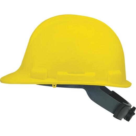 Safety Works Yellow Cap Style Wheel Ratchet Hard Hat