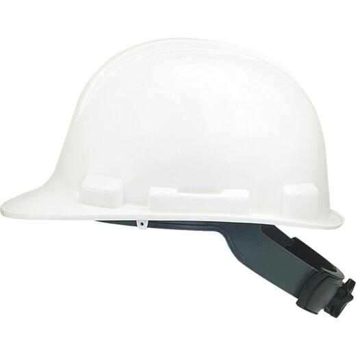 Safety Works White Cap Style Wheel Ratchet Hard Hat