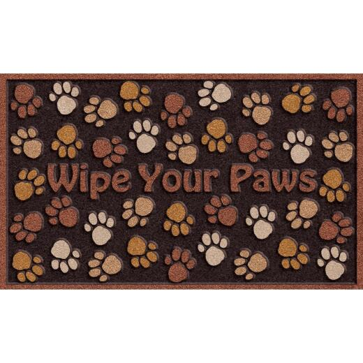 Apache Wipe Your Paws 18 In. x 30 In. Recycled Rubber Door Mat