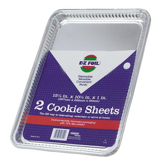 "EZ Foil 10-1/2"" x 15-1/4"" x 1"" Cookie Sheet"