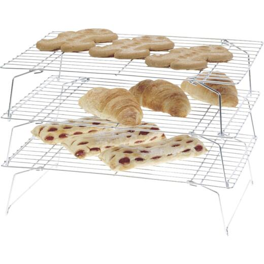 Norpro 10 In. x 14 In. Baking & Cooling Rack (3-Pack)