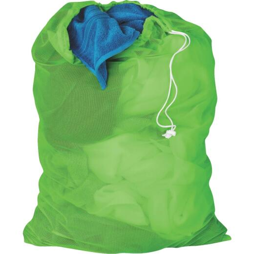 Honey Can Do Lime Green Mesh Laundry Bag