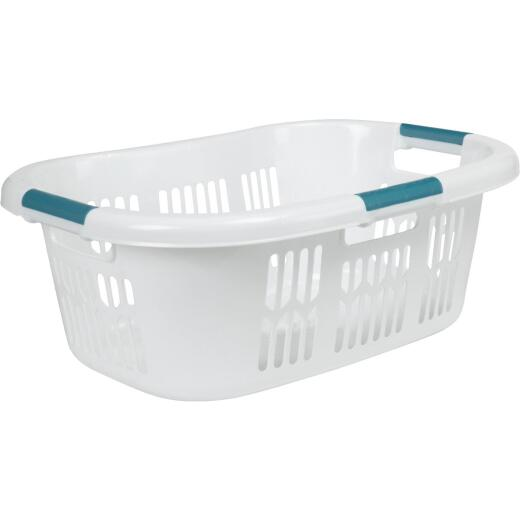 Rubbermaid 3-Handled White Laundry Basket