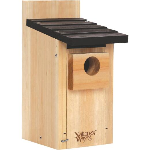 Nature's Way 5.5 In. W. x 12 In. H. x 8 In. D. Natural Cedar Bluebird House