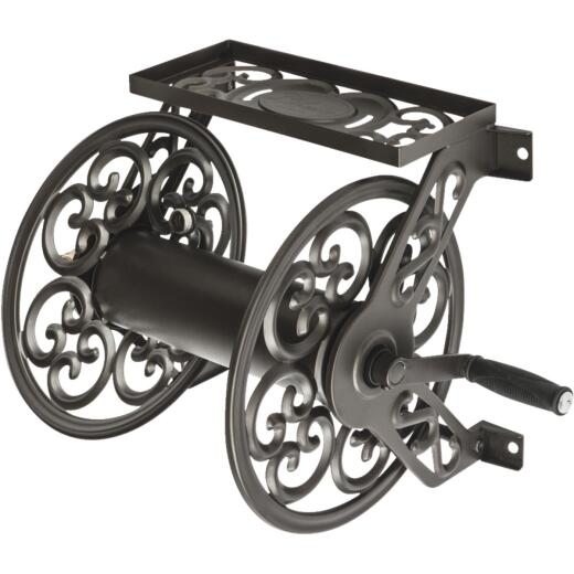 Liberty Garden 125 Ft. x 5/8 In. Bronze Steel Hose Reel