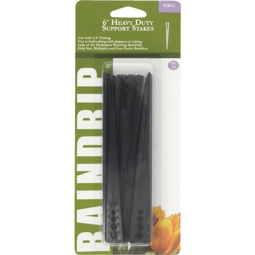 Raindrip 1/4 In. Tubing Plastic Heavy-Duty Support Stake (10-Pack)