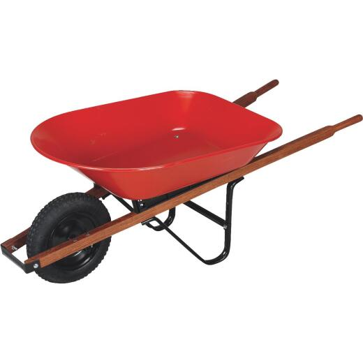 Truper Tru Built 4 Cu. Ft. Steel Wheelbarrow