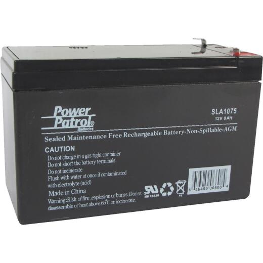 Interstate All Battery Power Patrol 12V 8A Security System Battery