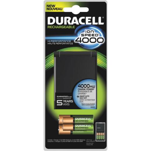 Duracell Ion Speed 4000 AA & AAA Ion Core NiMH Battery Charger