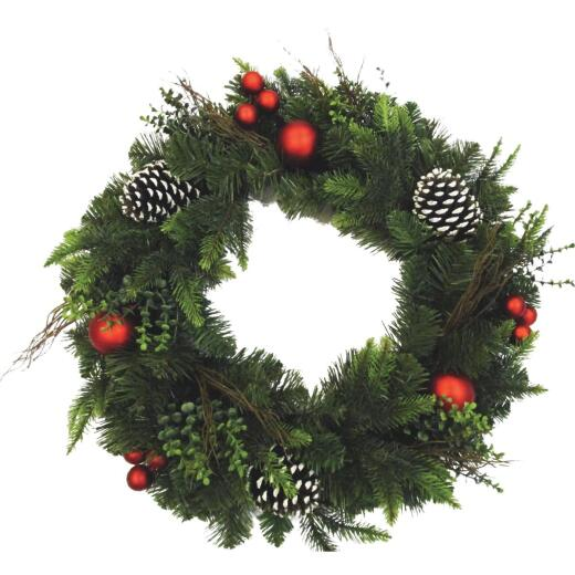 Sterling 24 In. Mixed Pine Artificial Wreath