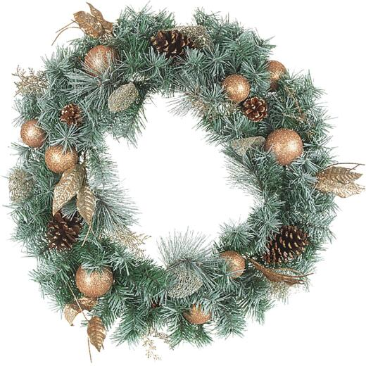 Gerson 30 In. Pine Artificial Wreath with Ornament