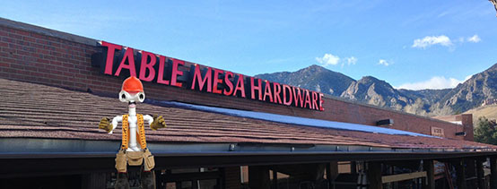 Table Mesa Hardware Store front